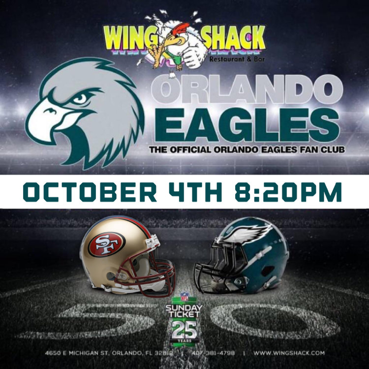 Eagles at 49er's | Oct 4 | 8:20pm