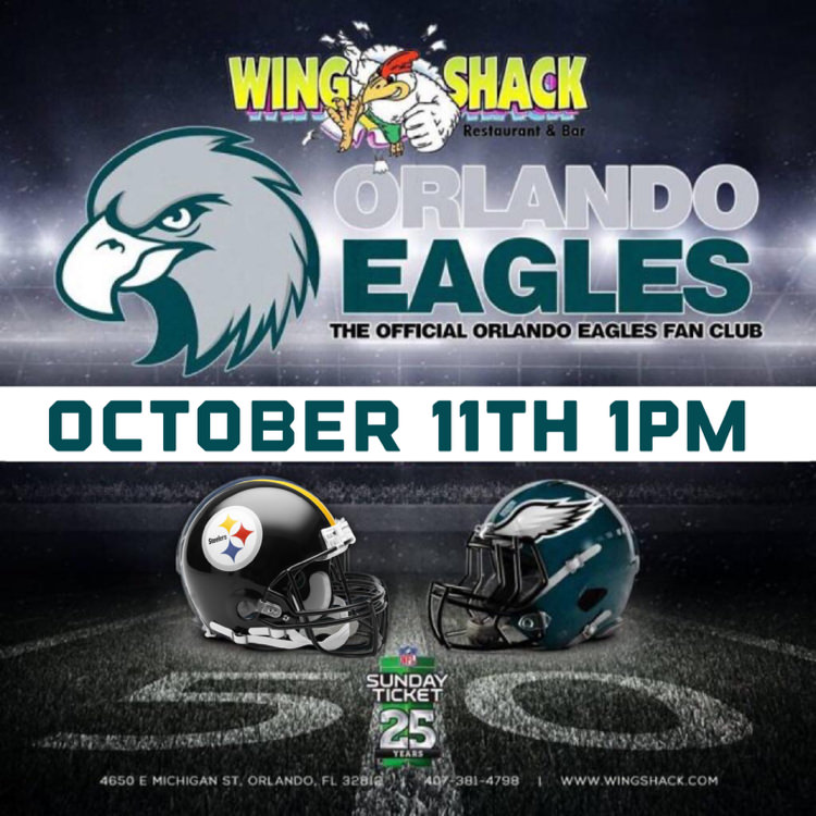 Eagles at Steelers | Oct 11 | 1pm